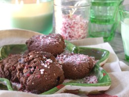 Paleo Double Chocolate Chip Peppermint Cookies