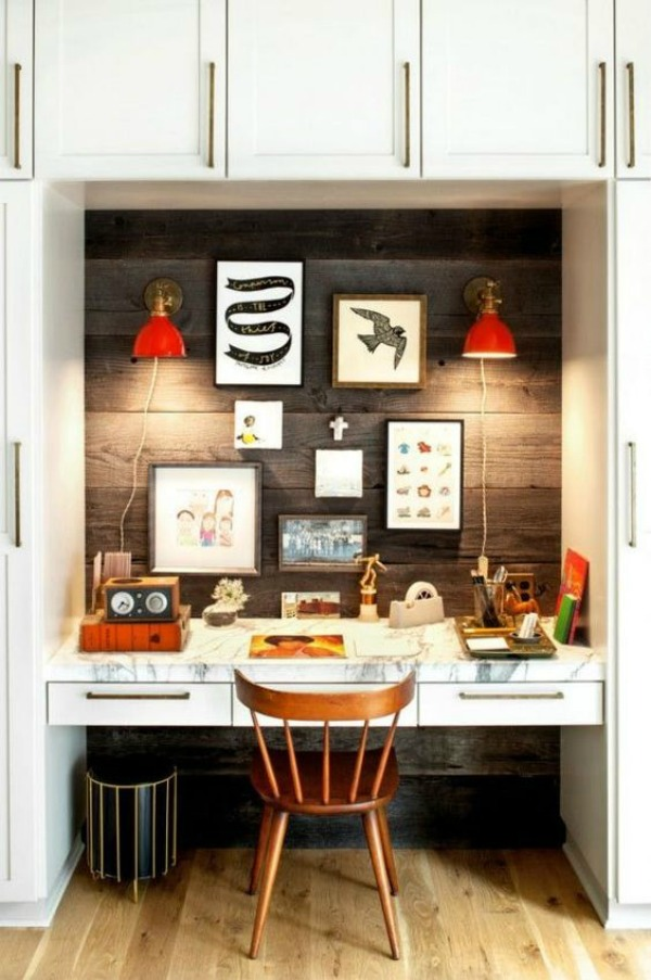 Small Space Inspiration- Closet turned into Office
