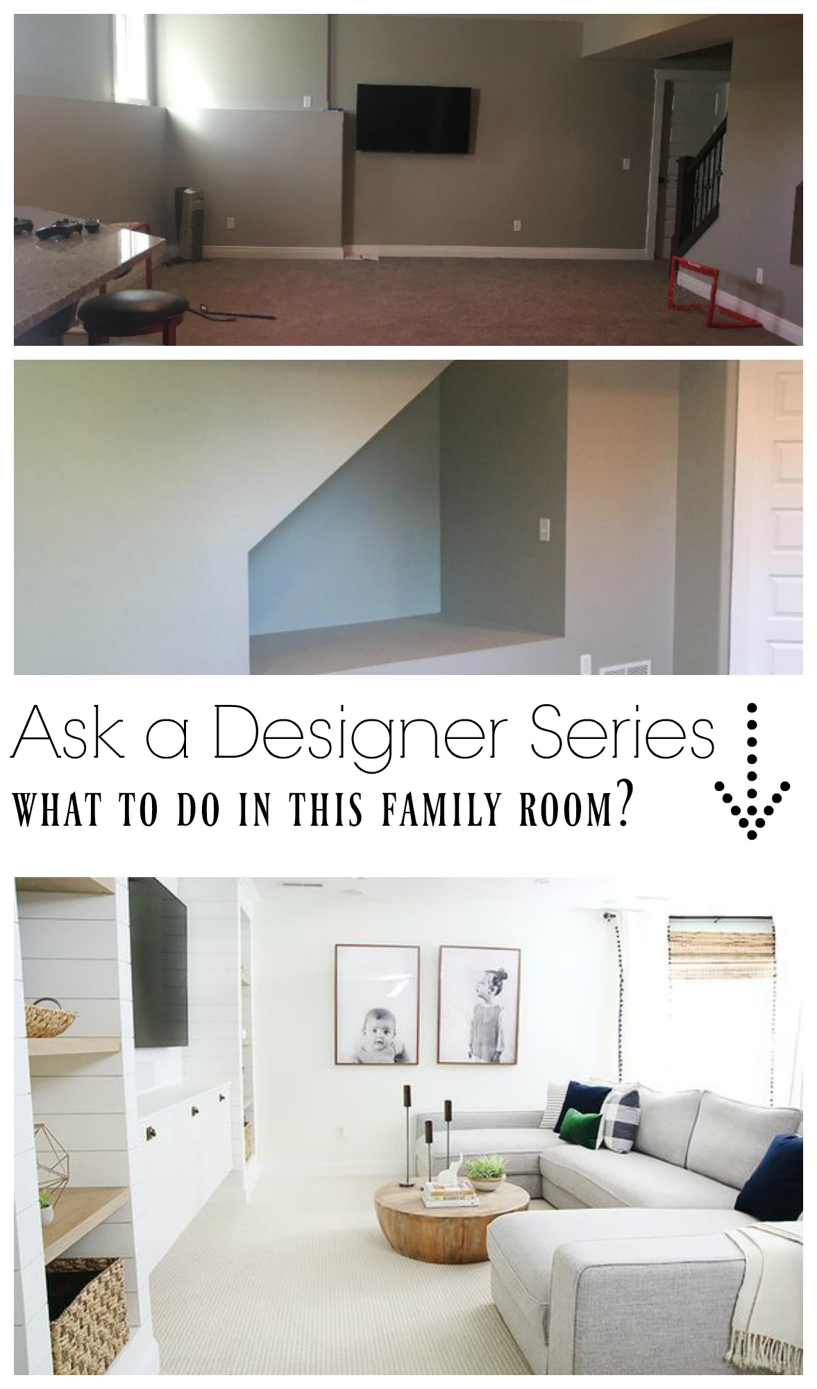 Ask a Designer Series- Ideas for Family Room that is Casual