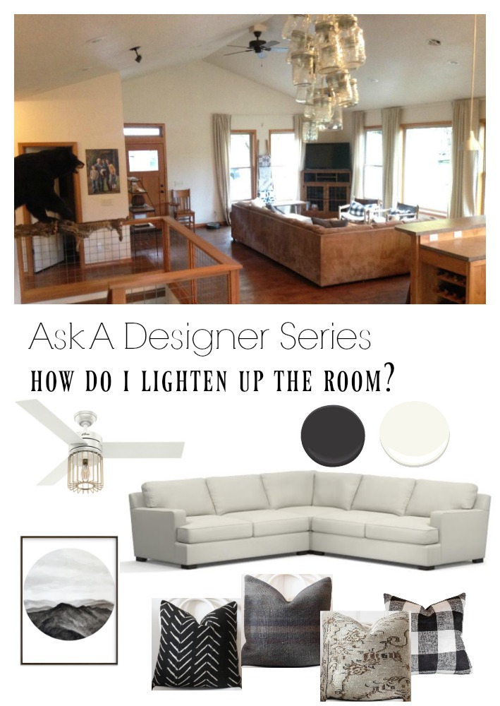 Ask a Designer Series- How to Lighten up a Dark Room
