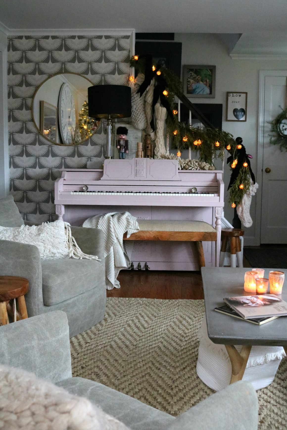 Christmas Entries- Painted Pink Piano
