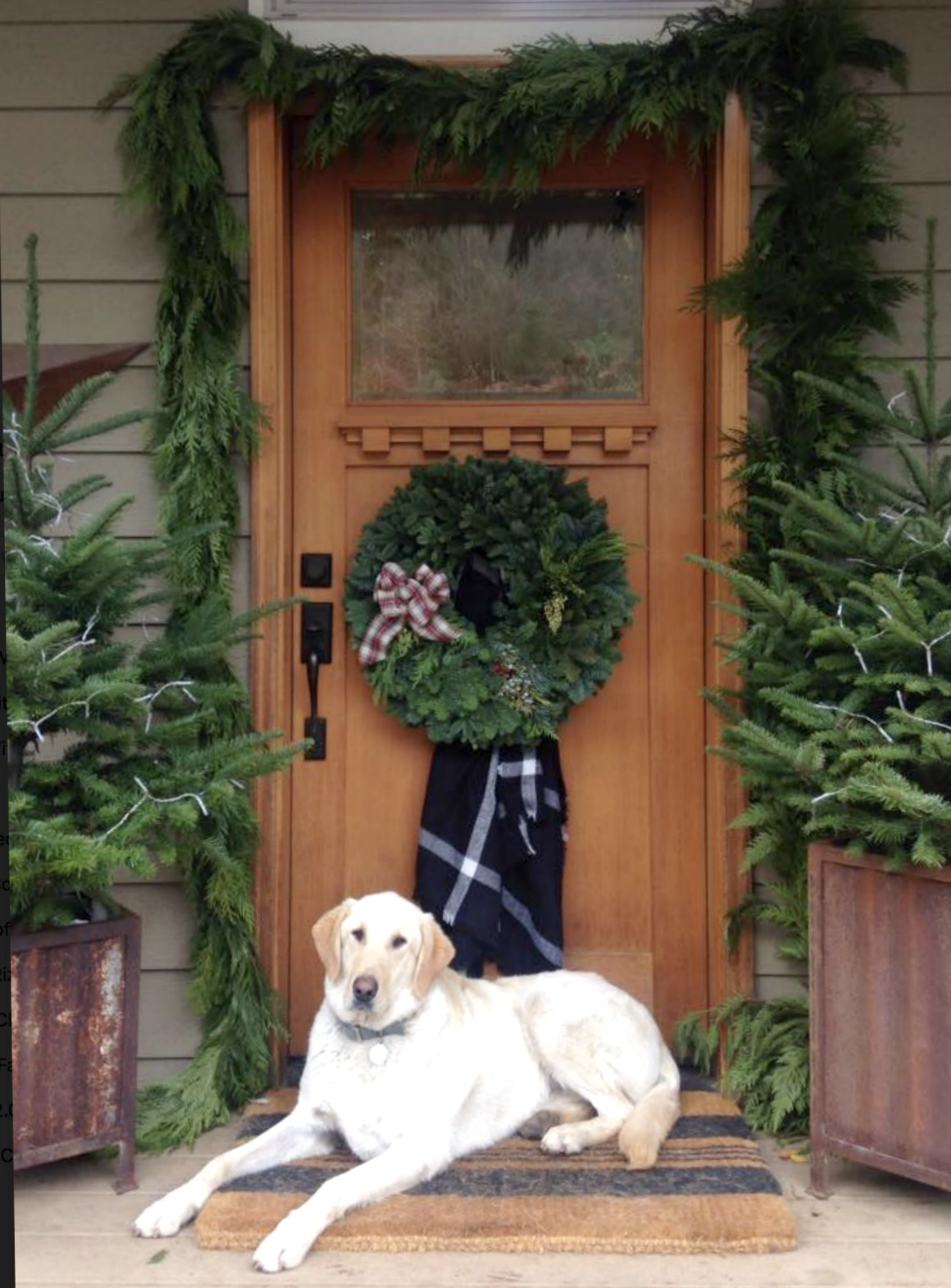 Christmas Front Door Ideas- Layerd Doormat