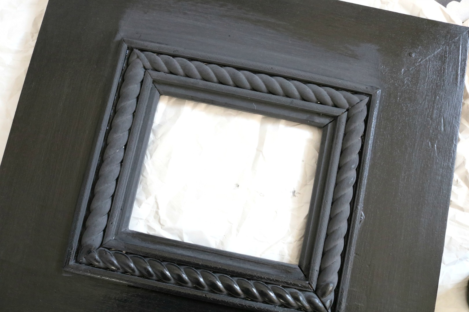 My Experience with Milk Paint on our Gallery Wall Frames - Nesting ...