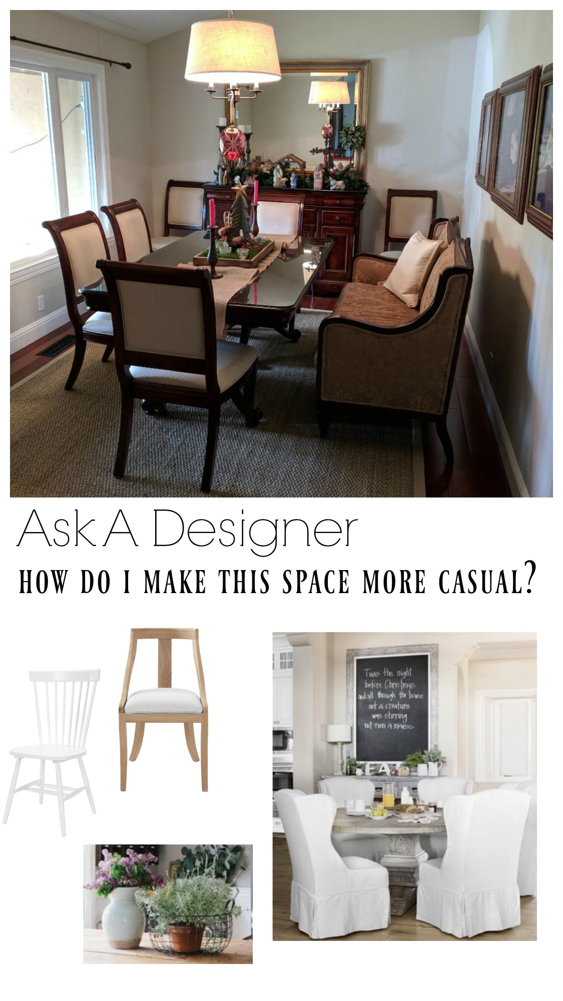 Ask a Designer Series- How to Lighten up a Dining Room