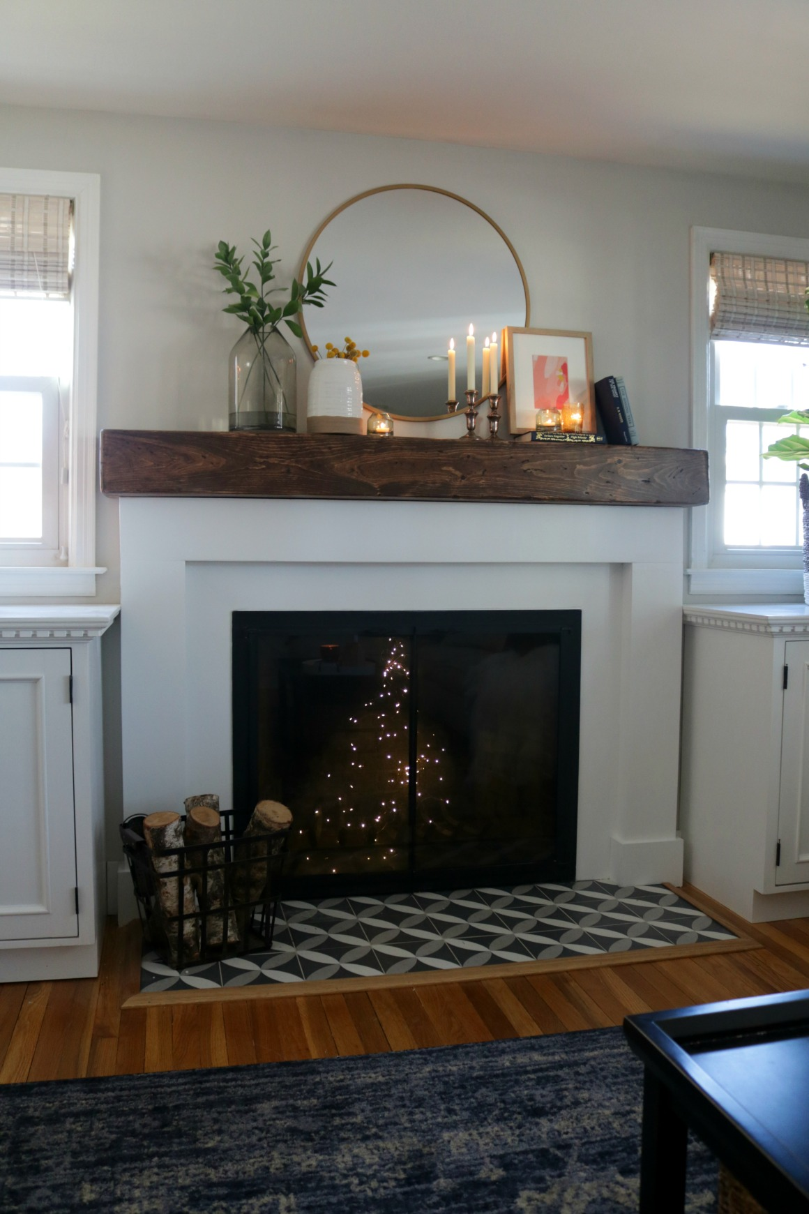 fireplace decor ideas fireplace makeover and styled with decor from target 12947