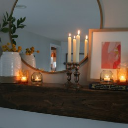 Fireplace Makeover- and Styled with Decor from Target!