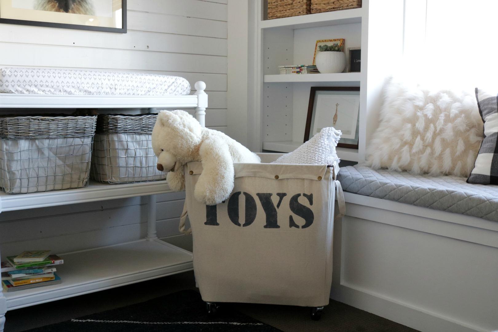 DIY Toy Storage- H&er Knock- Off & Kids Toy Organization- Custom Rolling Storage Bin - Nesting With Grace