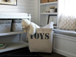 DIY Toy Storage- Hamper Knock- Off
