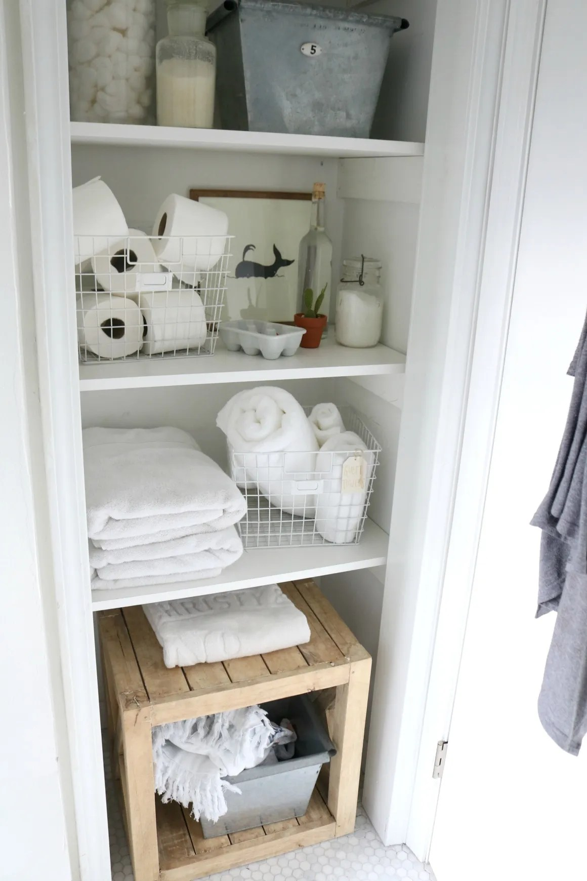 Bathroom Closet Idea- Storage Solutions