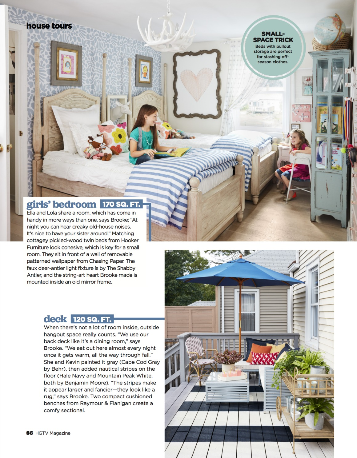 HGTV Full Magazine Spread- 1100 Square Feet Then and Now! - Nesting ...