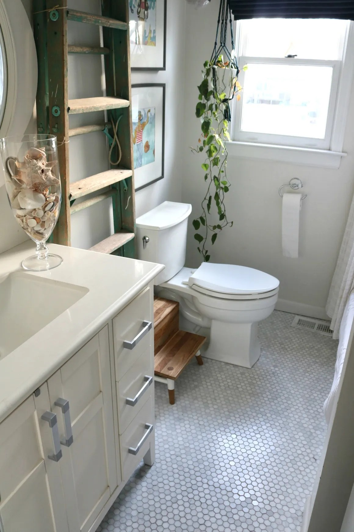 Bathroom upstairs Design Plan Before and Inspiration Nesting