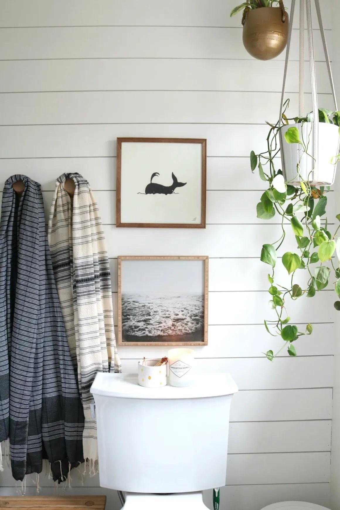 AZEK- The BEST Shiplap look in a Bathroom