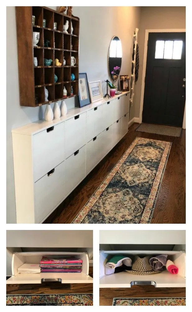 STALL IKEA HACK- Entry Piece for Small Space Storage