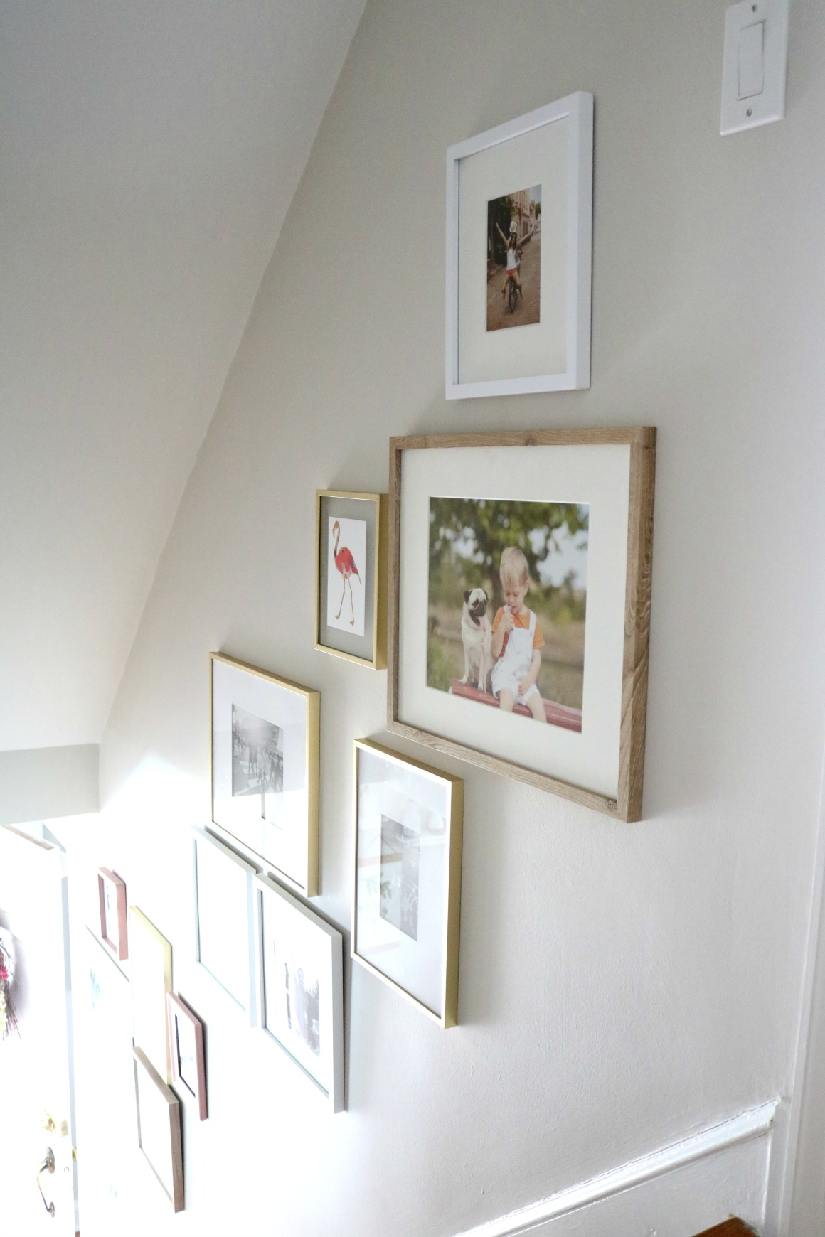 Gallery Wall Tips Photos Up The Staircase