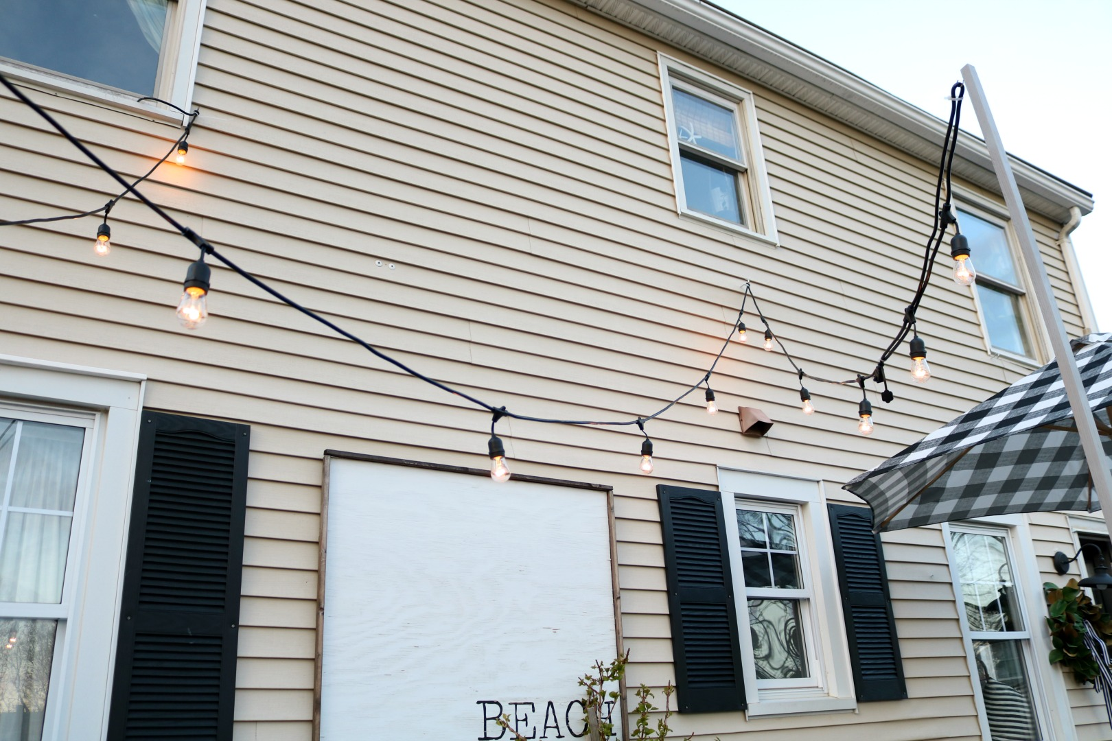 How to hang Outdoor Patio Lights and Privacy Screen