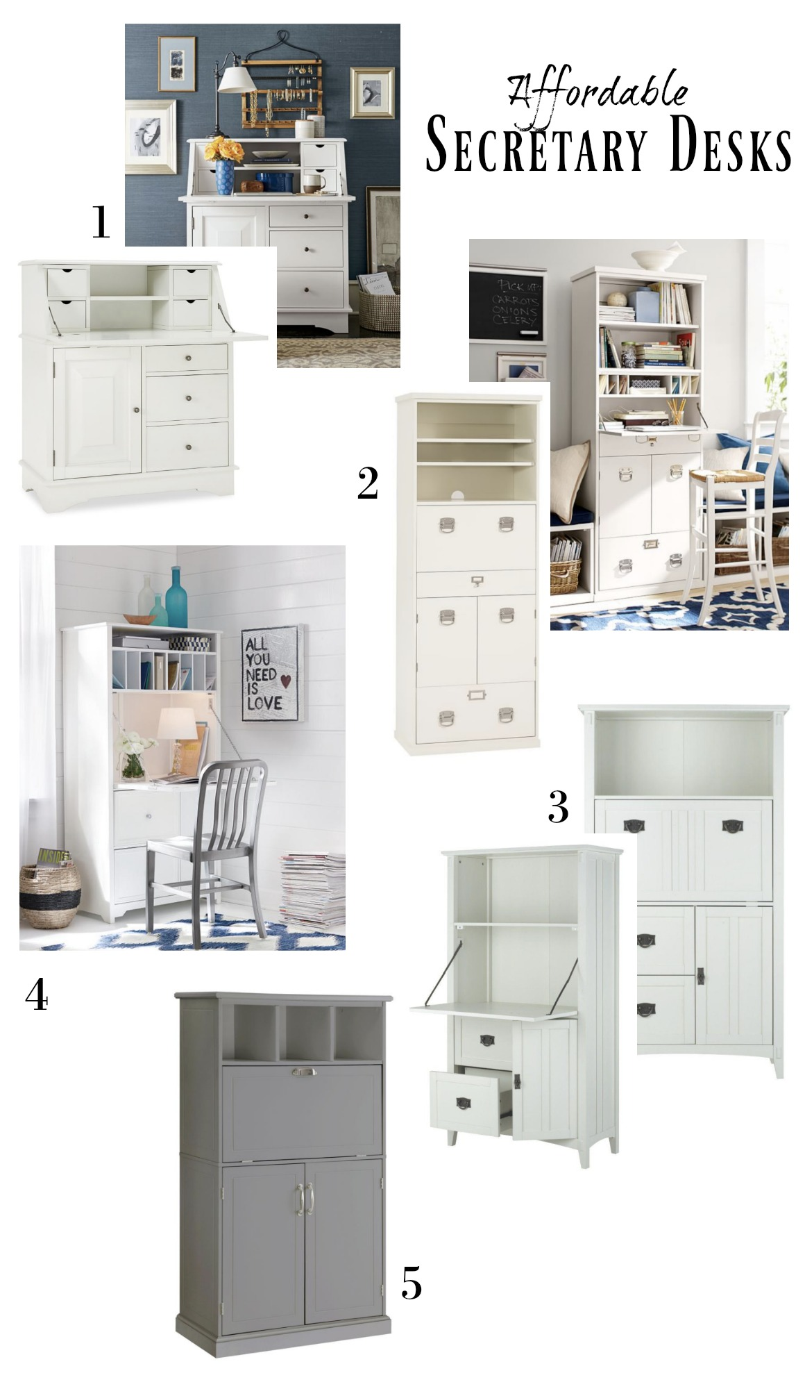 Secretary Desks- Afforable Desk Options for Small Spaces