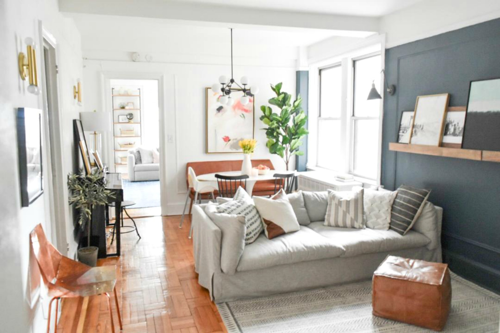 Small Space Living Series- New York City Apartment with ... on Small Apartment Organization  id=15208