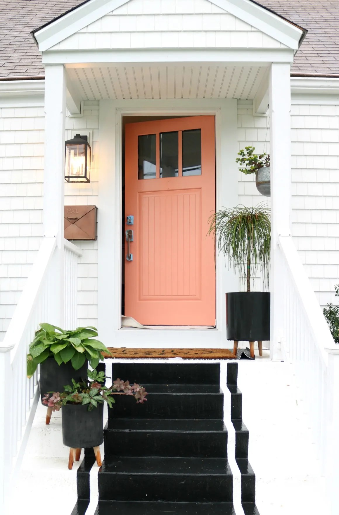 Painted Front Door Tips And Our New Pink Door Nesting With Grace