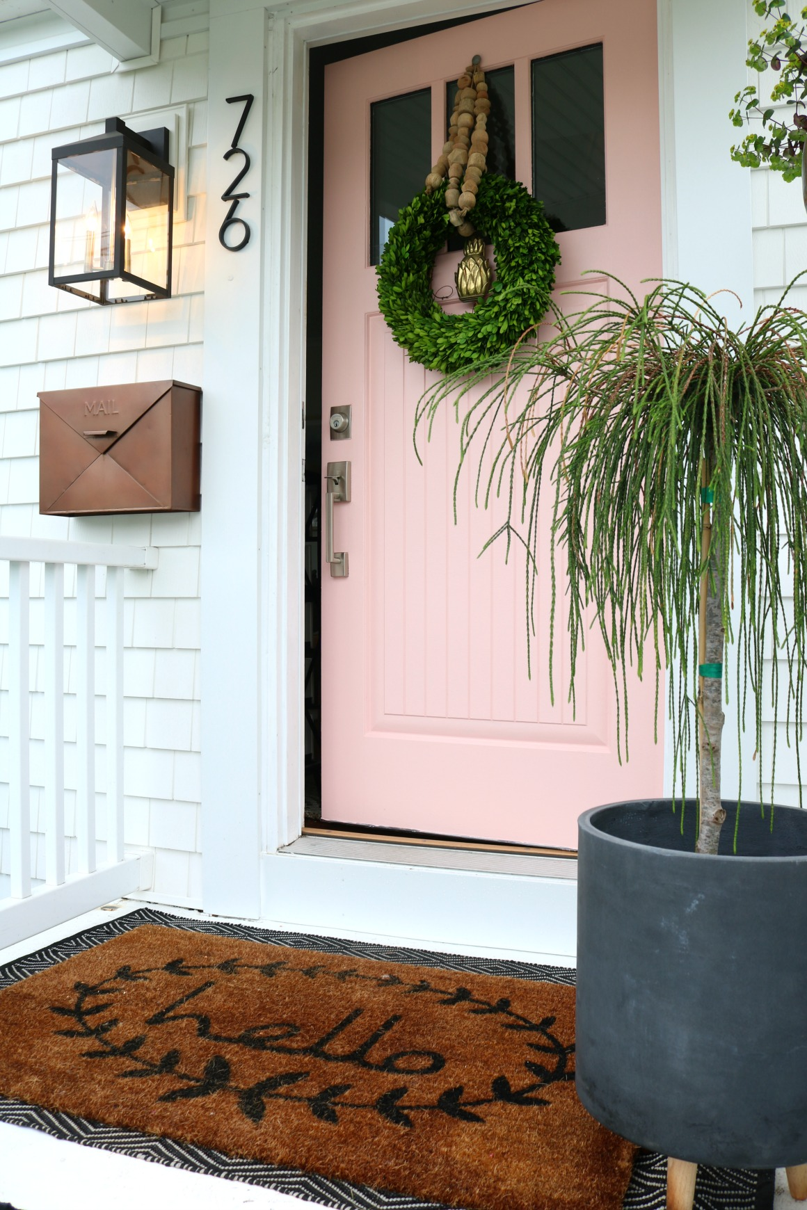 Painting Tips for Front Door- Pink Front Door in Coral Perfection