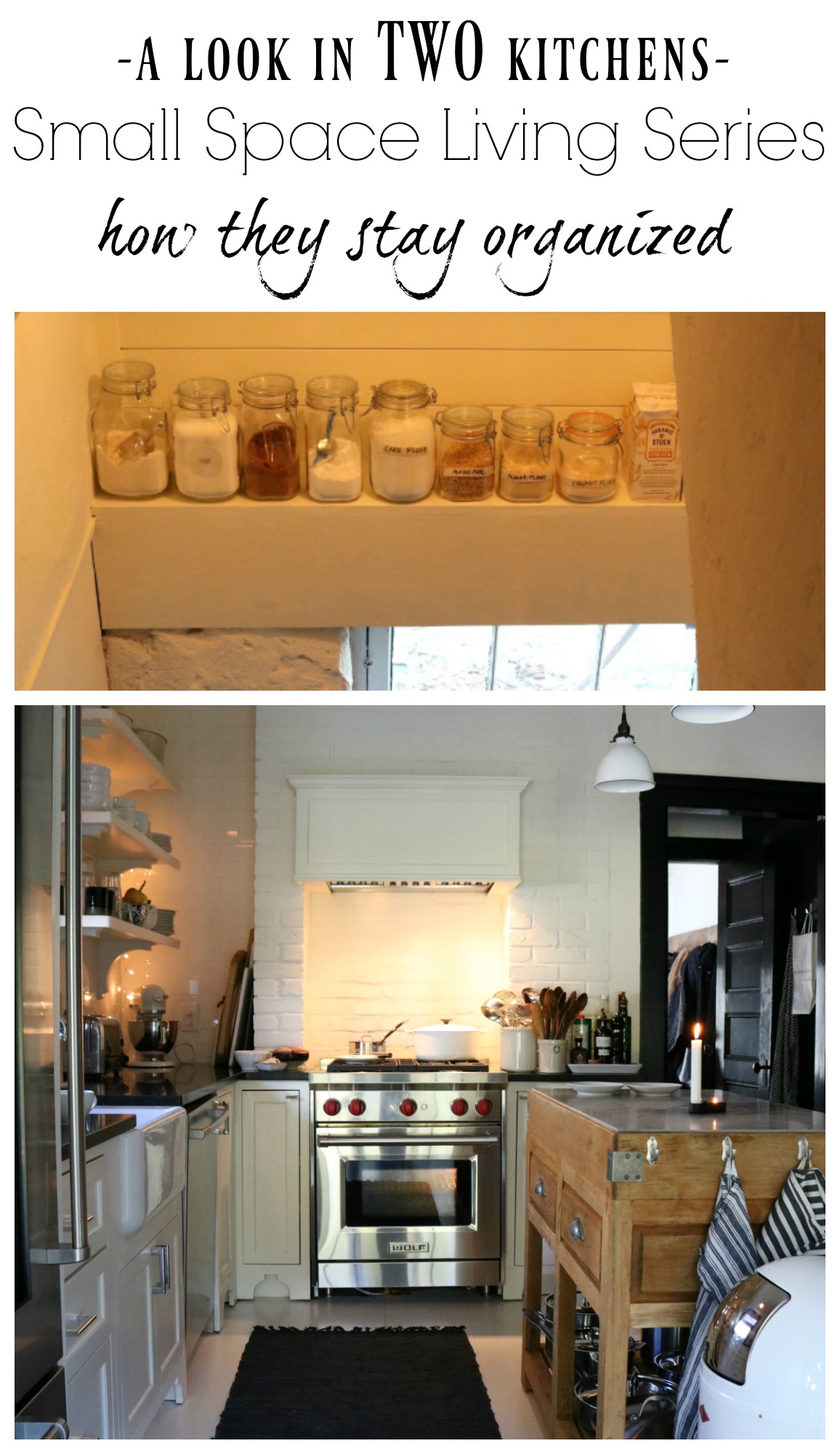 Small Space Living Series  Kitchen Organizing Tips