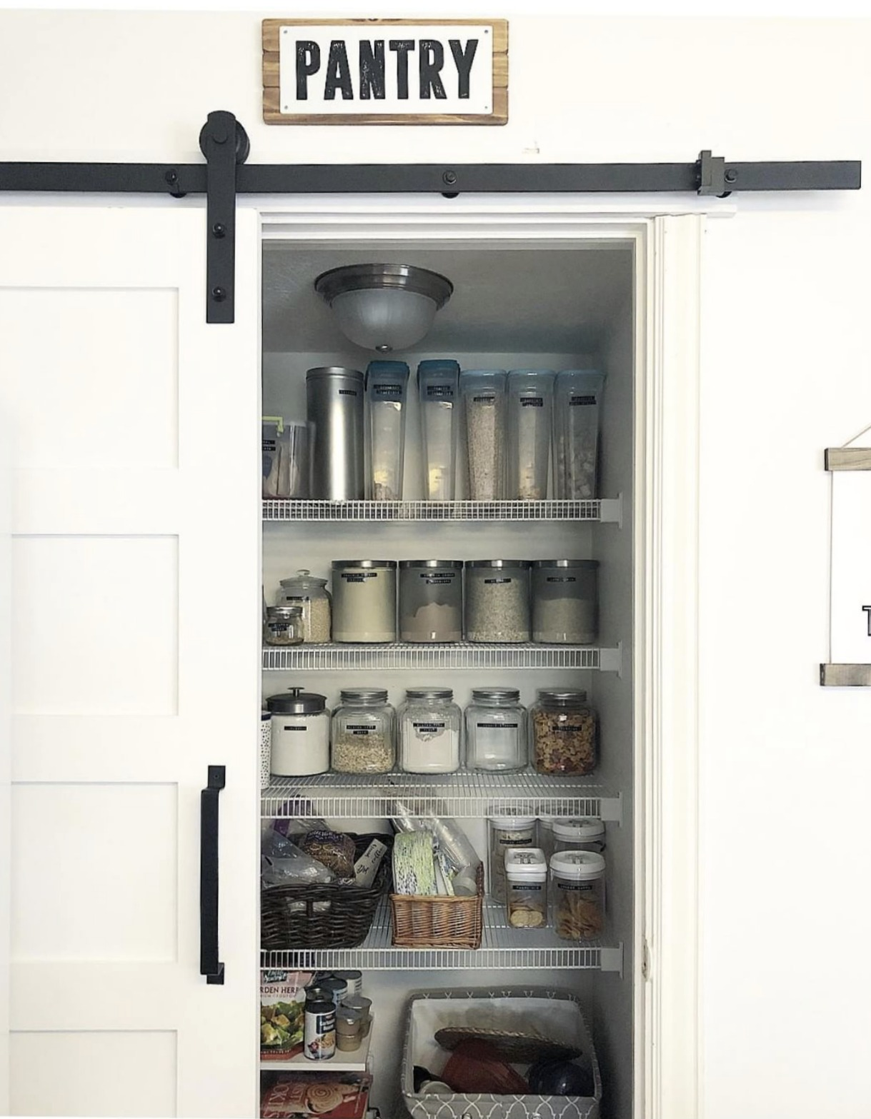 Friday Favorites- Organizing Challenge- Labeled Pantry