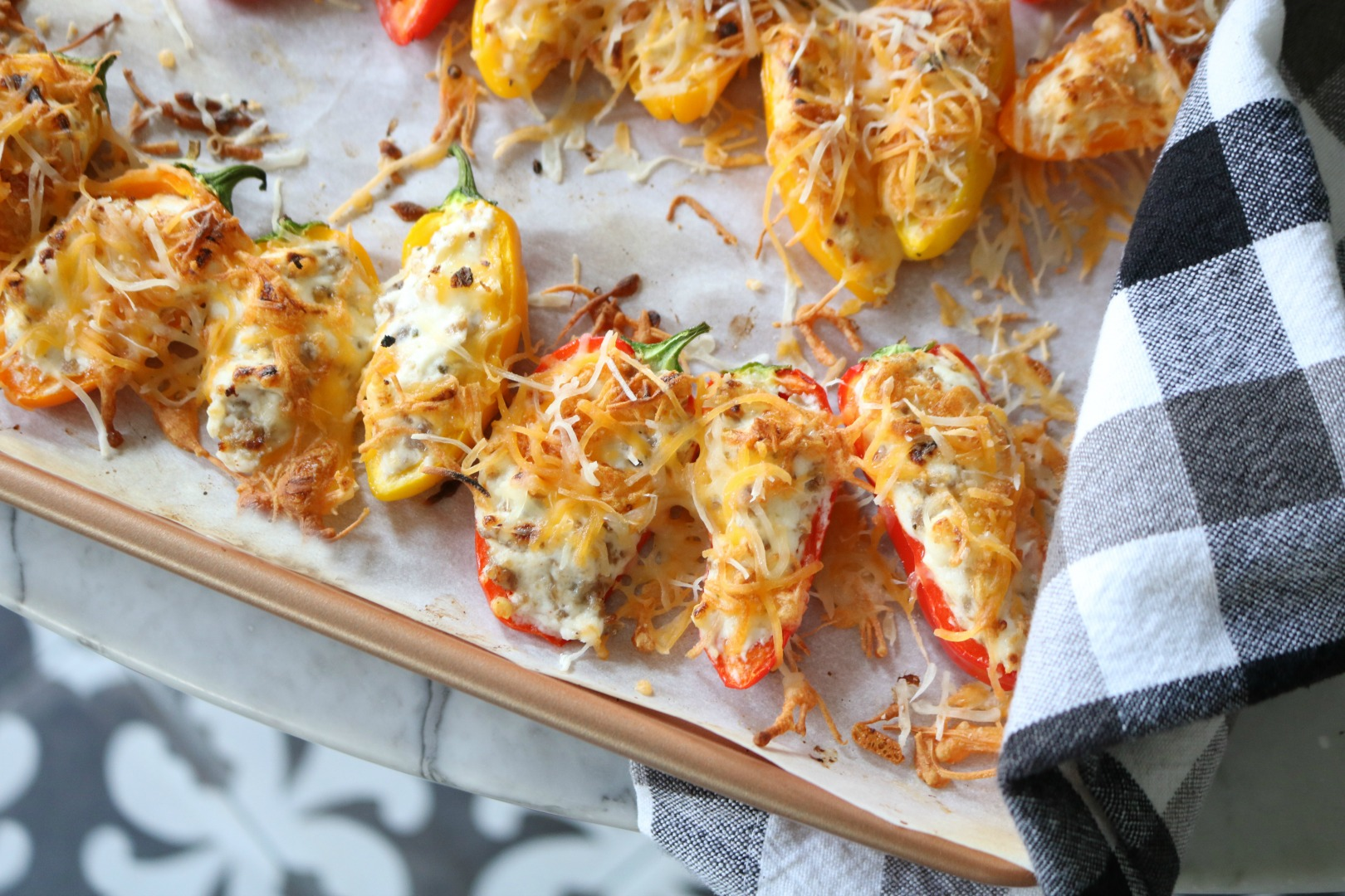 Stuffed Sweet Peppers Appetizer- Everyone will LOVE!!