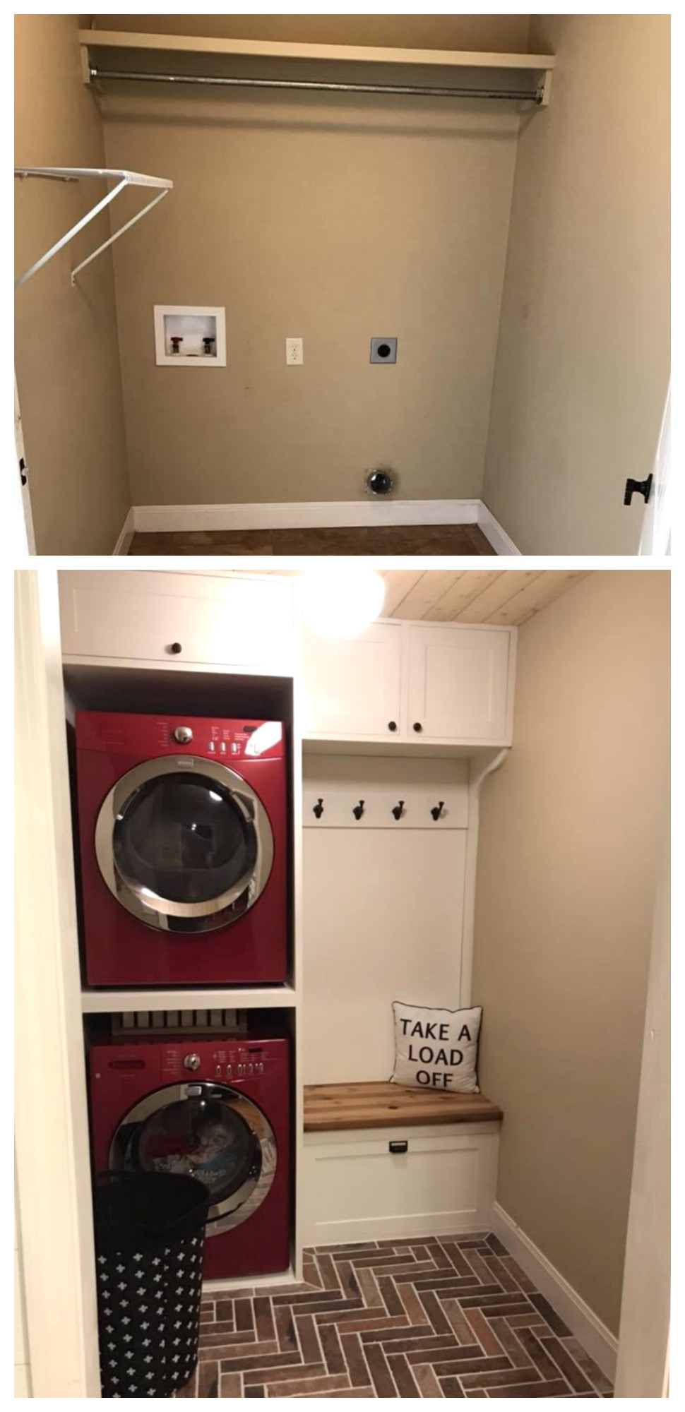 Laundry Room BEFORE and AFTER! Smart Space Saver!
