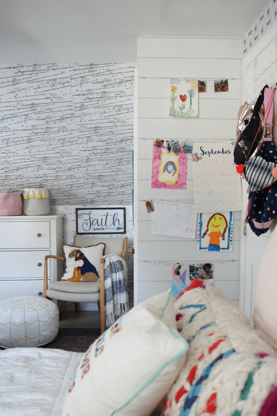DIY Kids Art Wall- How to Display Art and Photos