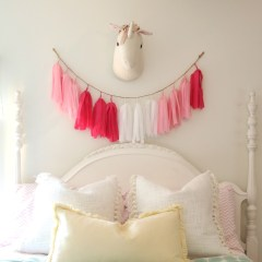 Girls Shared Bedroom Plan- Thrifted Decor Mixed with New