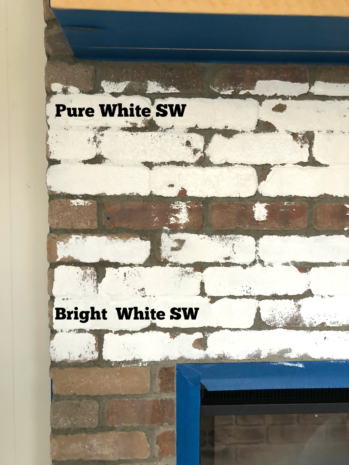 Our Painted White Brick Electric Fireplace