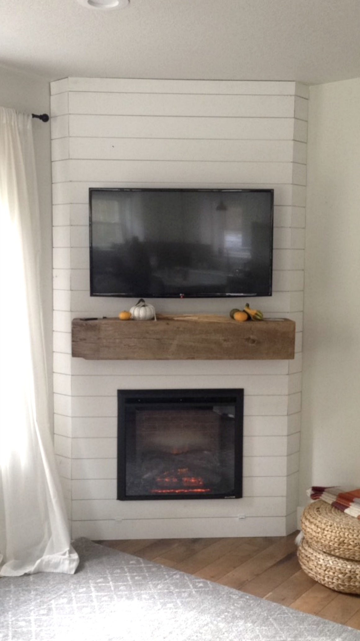 Fireplace Reveal Our Electric Brick Fireplace Nesting With Grace