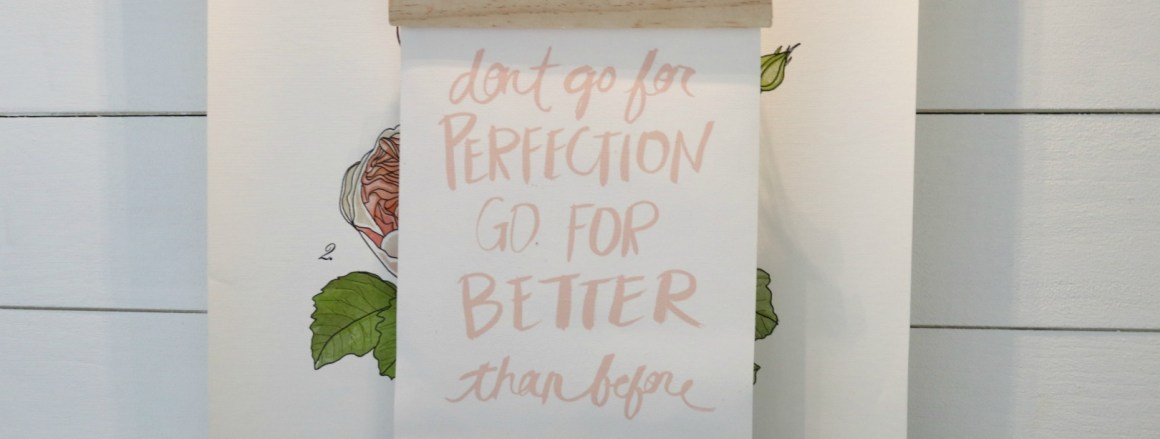 "DIY 20 Cent Wall Hanging for your ""Don't Go For Perfection"""