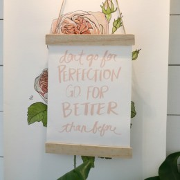 """DIY 20 Cent Wall Hanging for your """"Don't Go For Perfection"""""""