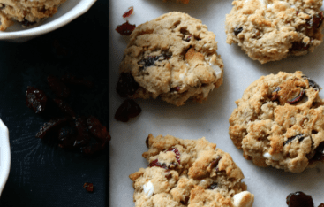 Paleo and Gluten Free Cranberry Chocolate Chip Cookies