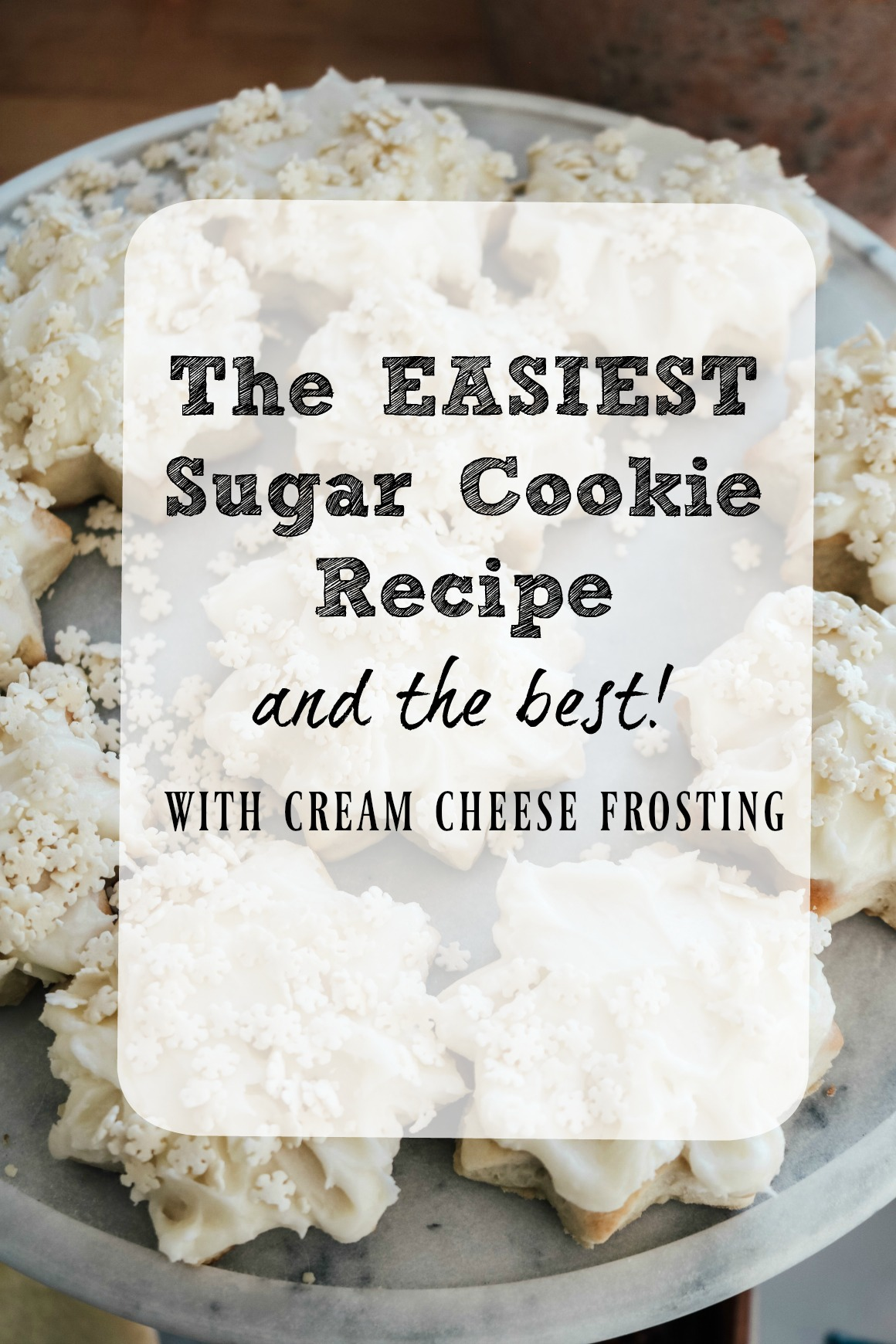 Easiest Sugar Cookies and Cream Cheese Frosting