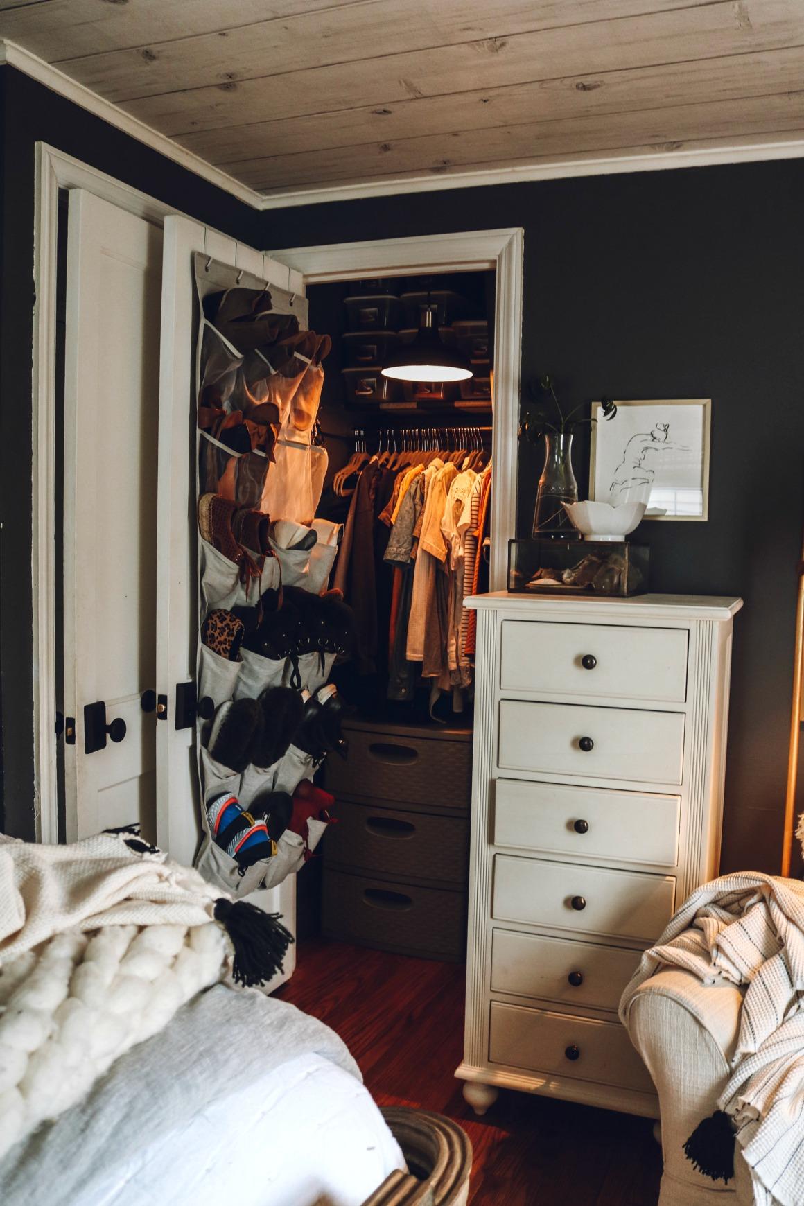 Marie Kondo Shoes Closet Organization
