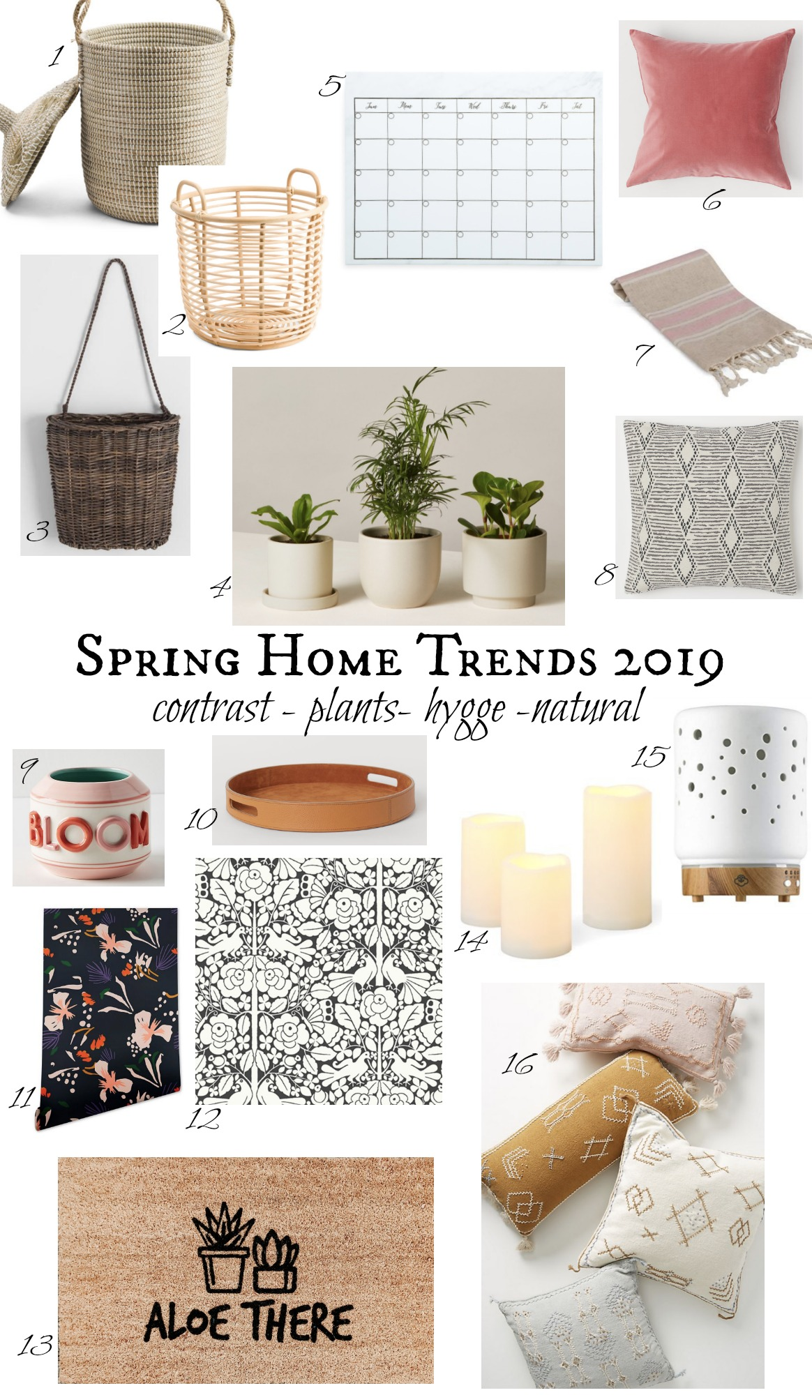 Home Design Ideas For 2019: Spring Home Decor Trends 2019