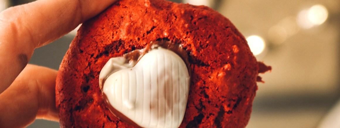 Three Ingredient Red Velvet Cookies- Valentines