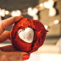 Three Ingredient Red Velvet Cookies- Easy Valentine Day Cookies