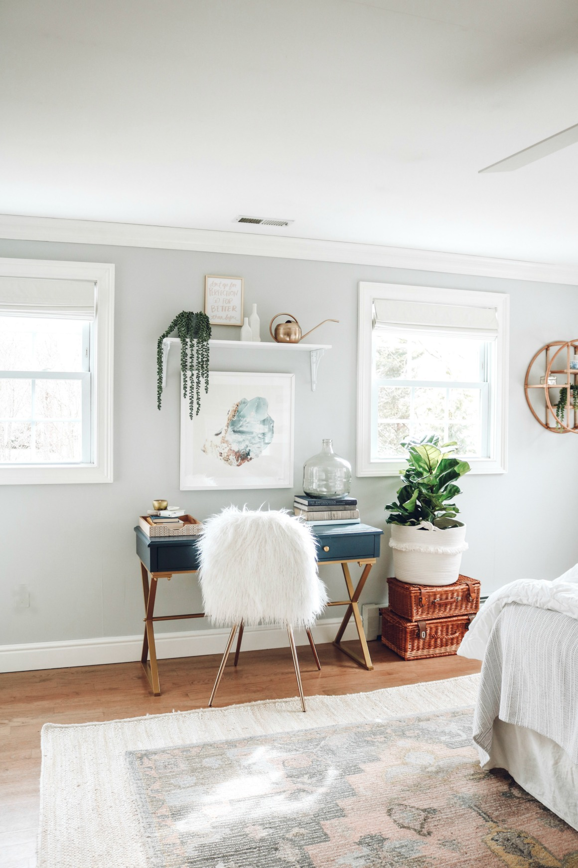 Fabric Roman Shades . Master Bedroom  Light And Bright Makeover