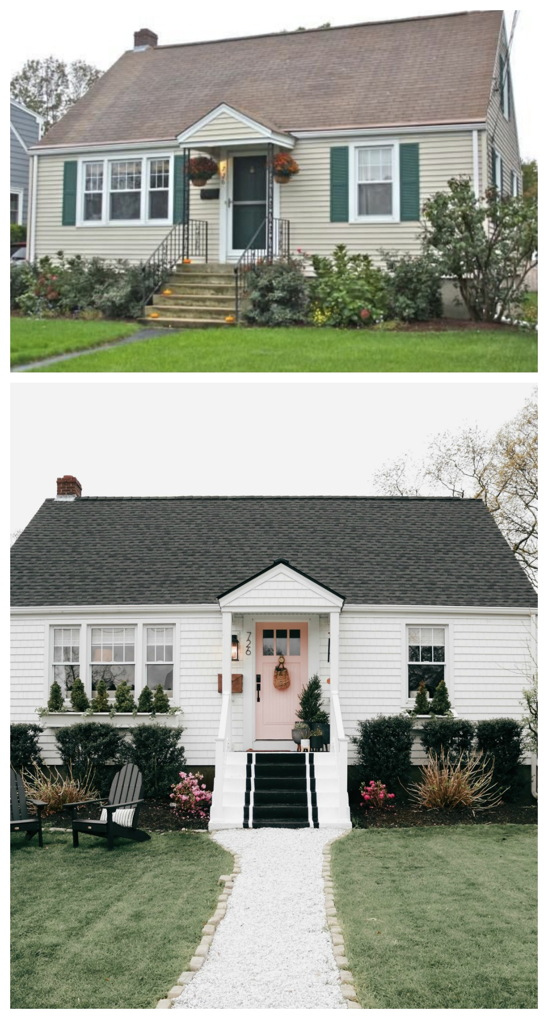 Before and After Exterior Small Cape