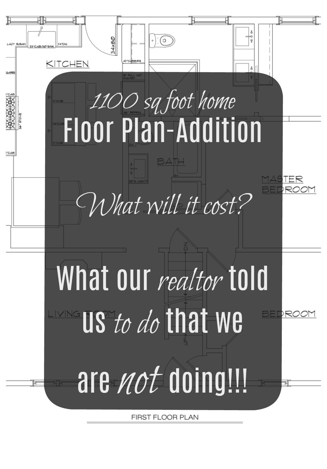 1100 sq foot- Floor Plan Addition