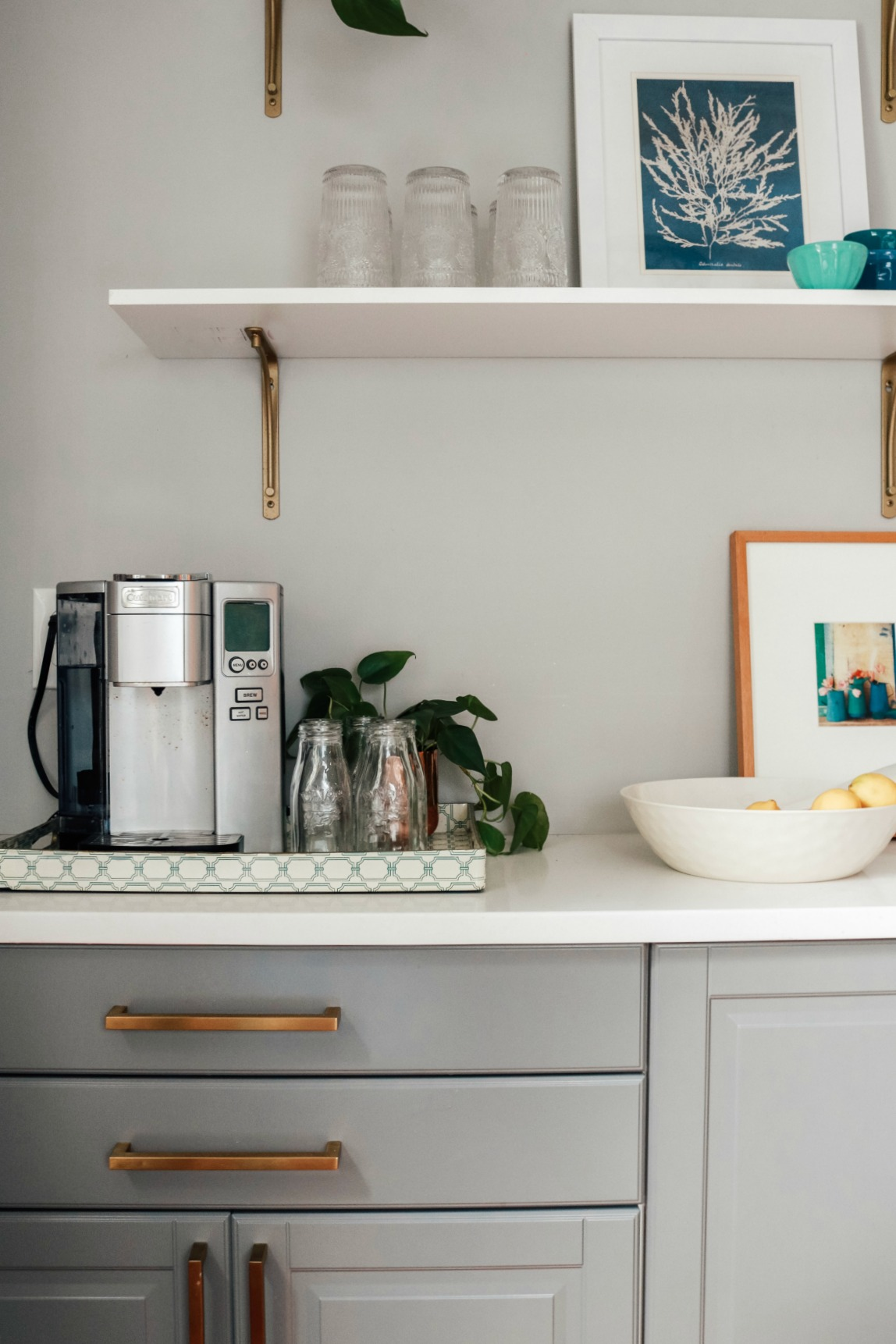 Kitchen Shelf Styling- Kitchen Shelves- Dining Room Styling Dining Room Shelves