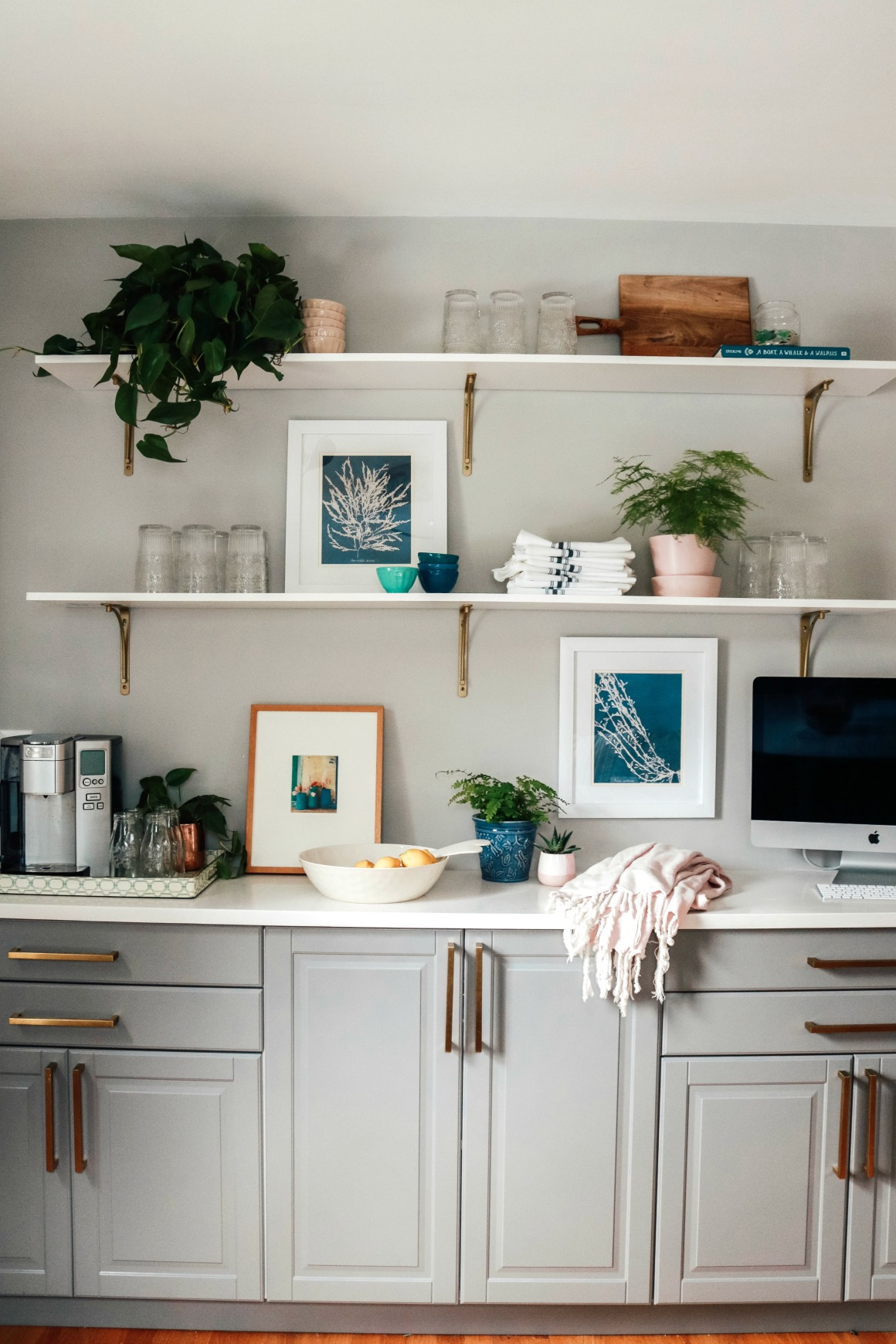 Kitchen Shelf Styling Diy Open Shelves With Affordable Decor Nesting With Grace