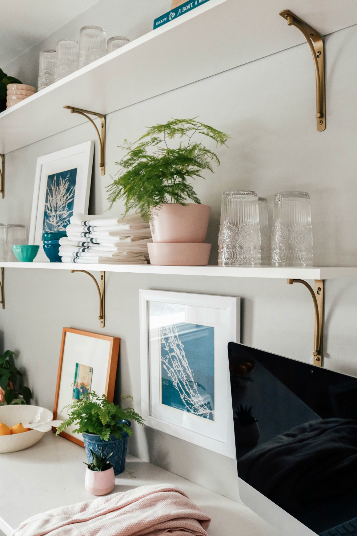 Kitchen Shelf Styling- DIY Open Shelves with Affordable ...