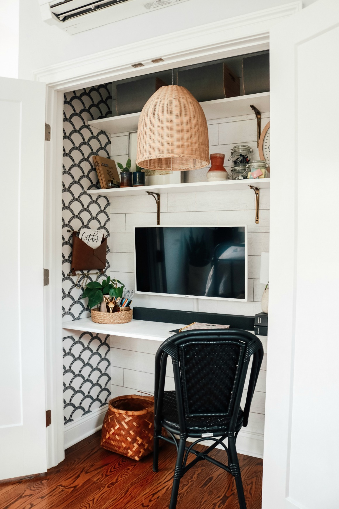 """""""Cloffice"""" Closet turned into an Office- Small Space Hack"""