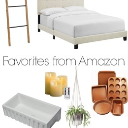 Amazon Favorites- Curtain Rod, Curtain Panels, Bed and more!
