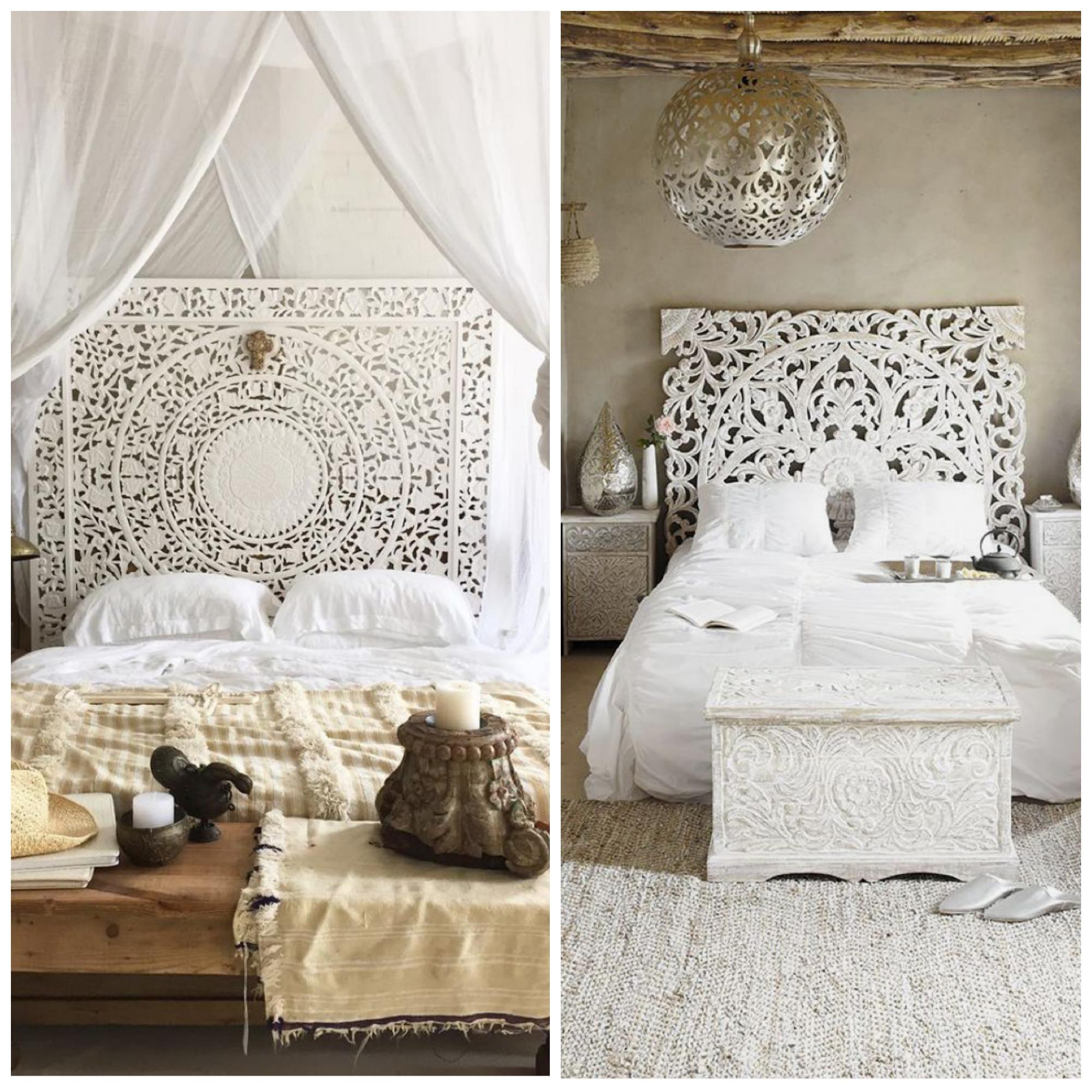 White Boho Bedroom Refresh