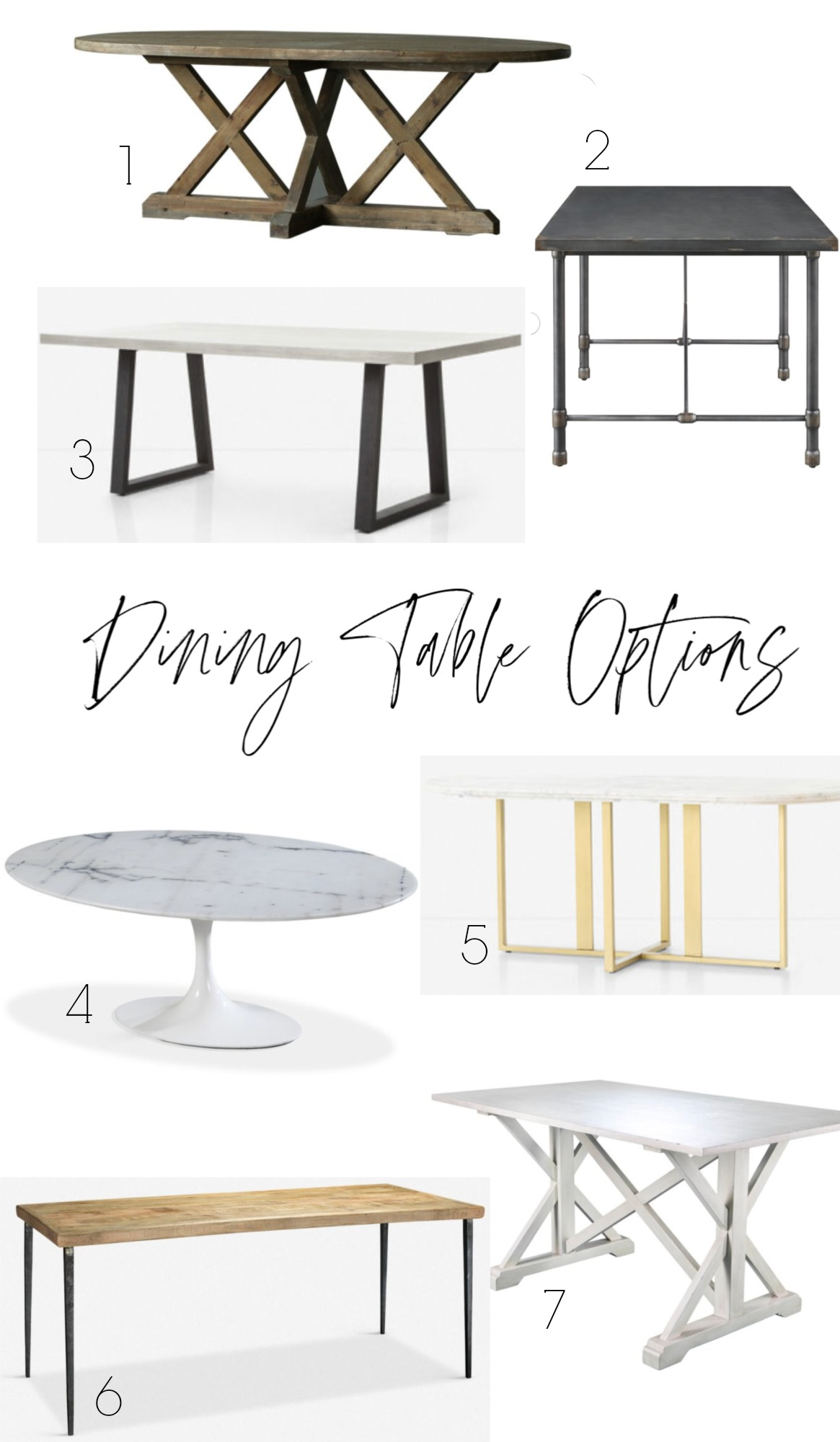 Dining Table Options