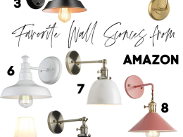 Favorite Wall Sconces from Amazon- Magic Light Trick